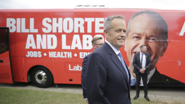 Opposition Leader Bill Shorten swung through Sydney's affluent eastern suburbs on Friday morning.
