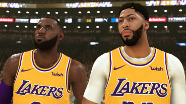 LeBron James and Anthony Davis in NBA 2K20. Players are constantly tweaked throughout the year to ensure they reflect their real-world counterparts.