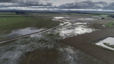 Beremboke Creek, which until recently ran through CFA Fiskville, has flooded again in recent weeks.