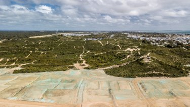 Work has already begun on the Golden Bay sand dunes development.