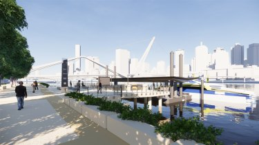 The planned South Bank ferry terminal upgrades design released by council earlier this year.