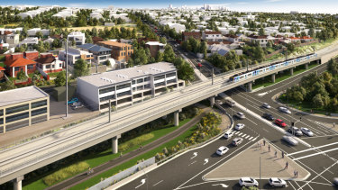 How the Toorak Road level crossing fix will look when it is finished.