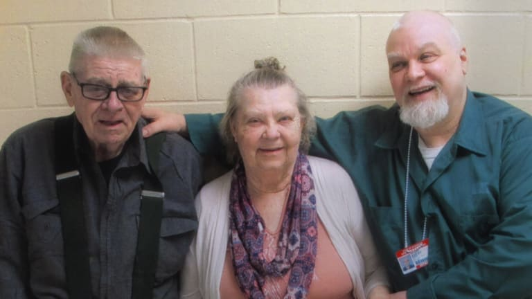 Steven Avery, right, with his parents in season two of Making a Murderer.