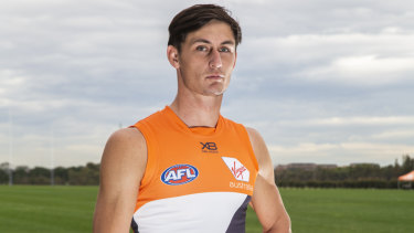 Giant move: Jake Stein will make his AFL debut on Sunday, three years after making the switch from athletics.