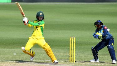 Rachael Haynes smashed 63 off 74 balls against Sri Lanka.