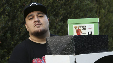 Jerome Salele'a once owned over 400 pairs of sneakers.