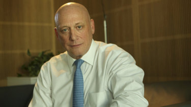 Steadfast: AGL chief James Vesey.