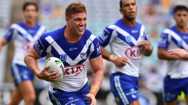 Dylan Napa in action for Bulldogs earlier this year.
