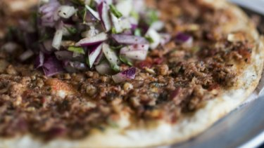 Lahmacun is a popular dish in the feast to celebrate the end of Ramadan.