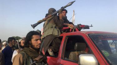 Taliban fighters in Nangarhar province, east of Kabul, in June.