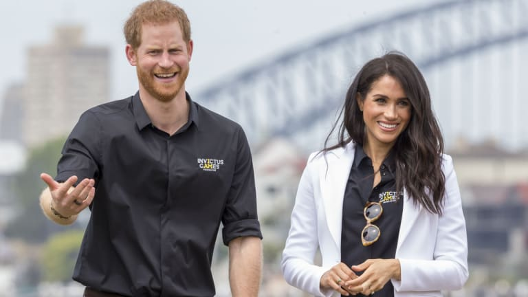Meghan is resting ahead of the couple's trip to Fraser Island, leaving Prince Harry to go it alone on Sunday.
