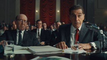 Al Pacino as Jimmy Hoffa in The Irishman.
