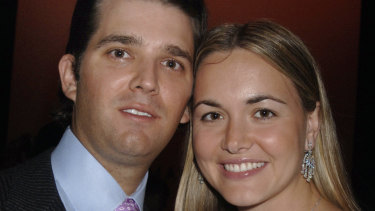 Donald Trump jnr and wife Vanessa.
