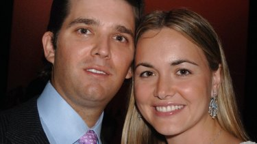 Donald Trump Jr and his wife Vanessa.