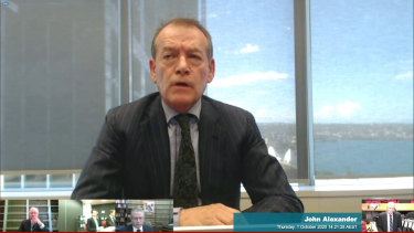 John Alexander at the NSW Crown inquiry this week.