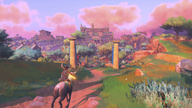 Immortals' colourful and sparsely textured world reminds of Fortnite, but is filled with ancient greek structures and mythological creatures.
