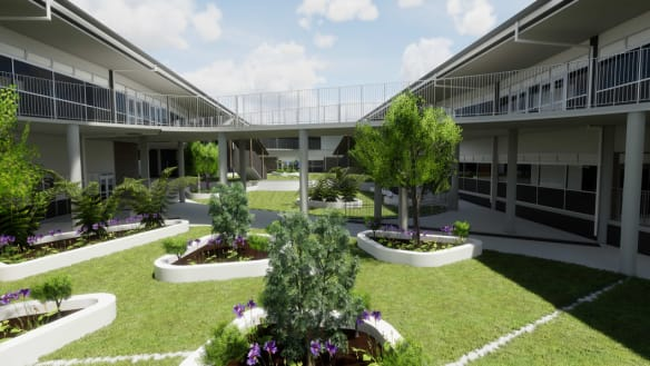An artist's impression of the new North Kellyville Public School