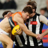 As it happened: Depleted GWS upset Pies; Blues edge out Suns; Saints run over Eagles; Dogs too good for Lions