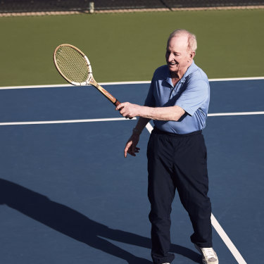 """I used to be a fairly good tennis player,"" said Laver."