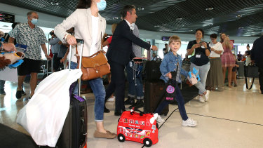 Brisbane Airport has been busy since the borders opened to Victoria and Sydney.