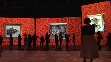 The new immersive Van Gogh exhibition, Royal Hall of Industries, Moore Park in Sydney.