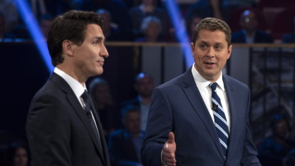 Canadian opposition leader slams Trudeau as a fraud in election debate
