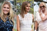 Hats off: Sophie Dillman, Kate Waterhouse; Sonia Kruger