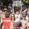 'Trust women': Protesters call for abortion bill to pass with no amendments