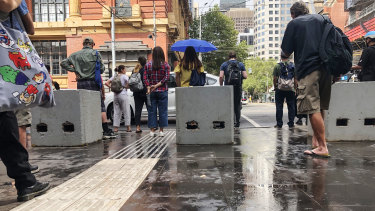 Yesterday's sudden downpour caught Melburnians by surprise.