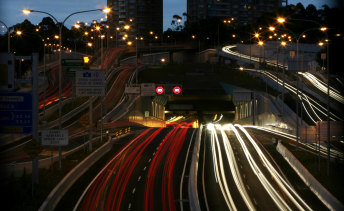 Traffic on Sydney toll roads jumped by 23 per cent after restrictions on the construction industry eased..