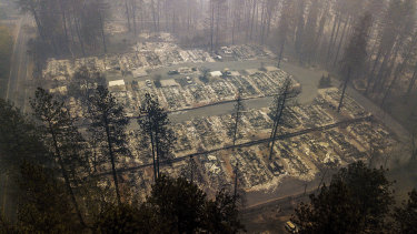 Residences in Paradise were totally destroyed by the fire.
