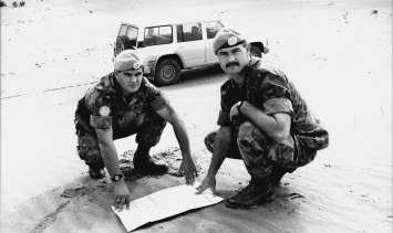 Corporal Greg Scanlon and Sergeant Paul Goodridge were part of a 40-strong Australian Army contingent that provided communications to nearly 3000 UN soldiers from over 30 countries in Western Sahara in 1991.