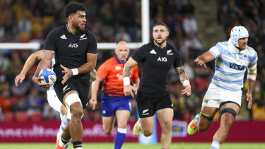 The All Blacks are all over Argentina.