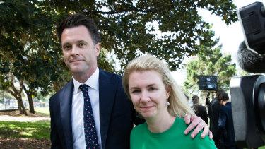 Labor MP Chris Minns with his wife Anna Minns.