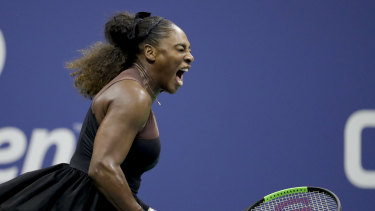 Serena Williams in the US Open final.