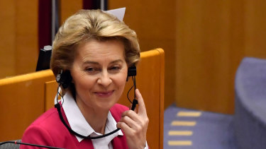 Ursula von der Leyen, president of the European Commission: the EU is challenged like never before.