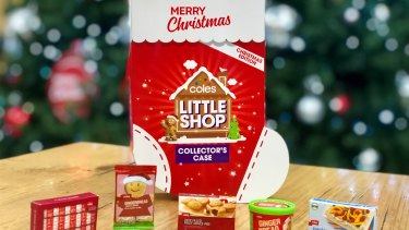 Coles' Little Shop Christmas promotion.