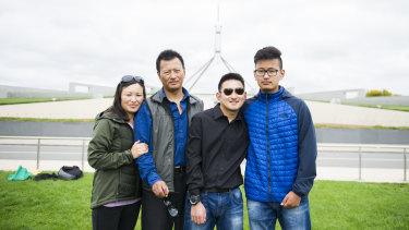 The Wangchuk family (from left) Jangchu Pelden, Tshering,  Kinley Wangchuk, and Tenzin Jungney.