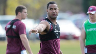 Tony Williams at Manly training in 2012.
