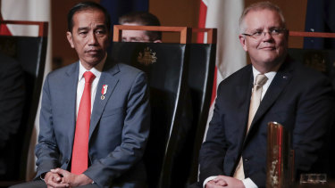 President Joko Widodo and Prime Minister Scott Morrison discussed the coronavirus in their meeting.
