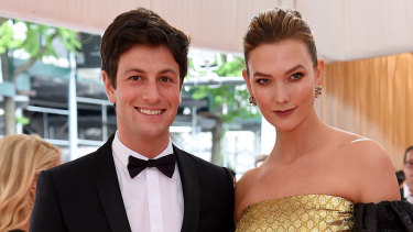 Joshua Kushner and wife Karlie Kloss. Kloss has been openly critical of Trump, from elliptically referring to disagreements with her in-laws on talk shows to holding up a 2020 ballot while wearing a Biden-Harris face mask.