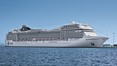 MSC Magnifica, which is steaming into Fremantle on Monday night or Tuesday.