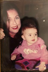 A young Stella (Benee) with her actor mother Tania Anderson (who is now her PA).