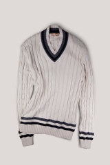 Up style your picnic look with a cricket jumper from Christian Kimber.