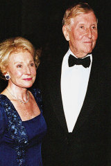 Sumner Redstone with his first wife Phyllis, pictured in 1998.