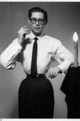 A corseted Musafar in a self-portrait from 1959.