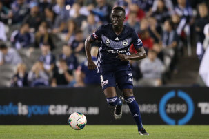 Thomas Deng in action for Victory.
