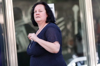 Morena Milani outside the County Court on Tuesday.
