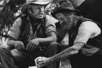 Two Kooyong stockbrokers trying to break out of Melbourne or a still from the movie <i>The Man From Snowy River</i>?