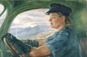 Nora Heysen (1911-2003) Transport driver (Aircraftwoman Florence Miles), 1945.